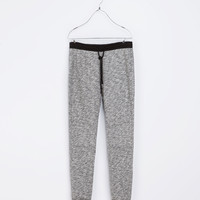 SEAMED VELOUR TROUSERS