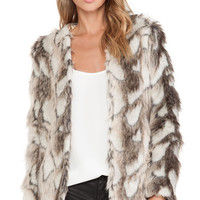 heartLoom Tess Faux Fur Jacket in Brown