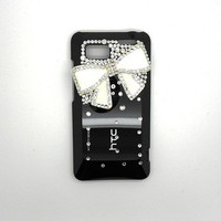 Handmade hard case for HTC VIVID: Bling  bow (customized are welcome)