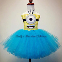 Despicable Me Minion Tutu DressSizes Newborn 624 by MTCCollection