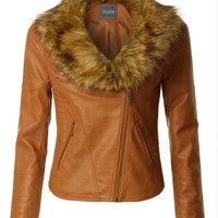 2Sable Faux Leather Moto Jacket
