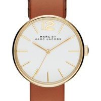 Marc by Marc Jacobs Women's Peggy Brown Leather Strap Watch 36mm MBM1362   macys.com