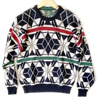 Shop Now! Ugly Sweaters: Vintage 90s Jantzen Tacky Ugly Ski or Christmas Sweater Men's Size Medium (M) $30 - The Ugly Sweater Shop