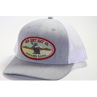 "Red Dirt Hat Co ""Jackalope"" Heather Grey / White Snap Back Trucker Hat"