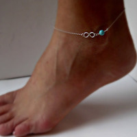Sexy Simple Bead Charm Infinity Ankle Gold/Silver Women Anklet Bracelet Foot Chain Hot Jewelry Beach