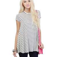 Short Sleeve Pleated Loose Top
