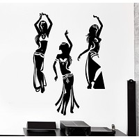 Wall Vinyl Decal Dancing Belly Dance Oriental Girl Home Interior Decor Unique Gift z4151