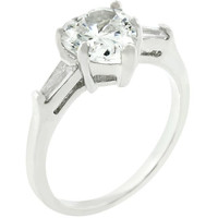 Heart Triplet Ring, size : 09