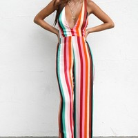 That Thing Rainbow Striped Jumpsuit
