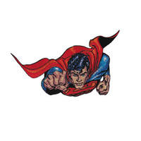 Superman Fist First Embroidered Iron-On Patch