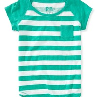 Kids' Striped Raglan Pocket Tee