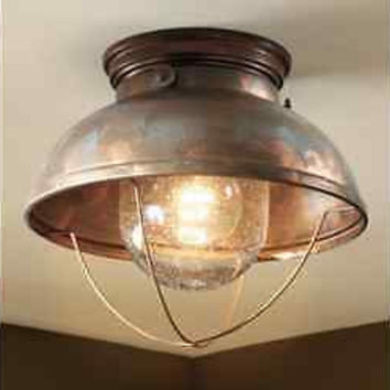 Ceiling Lodge Rustic Country Antique Bronze Brass Copper Lighting Light Fixture
