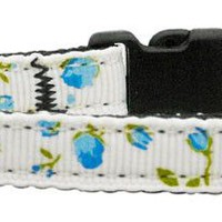 Roses Nylon Ribbon Cat Collar (4 Colors Available)