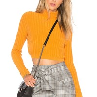 Lovers + Friends You Go Girl Sweater in Saffron | REVOLVE