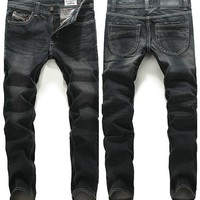 Korean Slim Casual Pants Men Jeans [6528533571]