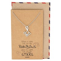 Rebecca Bright Stars Necklace with Inspirational Quote, Sympathy Gifts