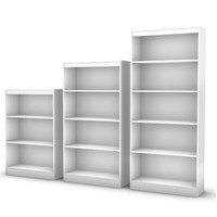 Eco-Friendly 4-Shelf Bookcase in Pure White Finish