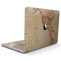 The Western World Overview Map - MacBook Pro with Touch Bar Skin Kit