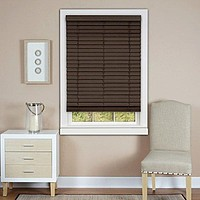 Park Avenue Collection Cordless Madera Falsa 2 inch  Faux Wood Plantation Blind 33x64 - Mahogany
