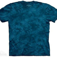 Starry Night Solid Color Blue Tie Dye T-Shirt