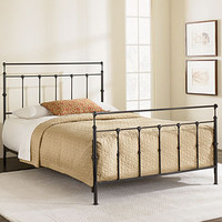 Kingston Mahogany Gold Metal Bed Frame - Beds - furniture - Macy's