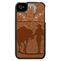 """Cowgirl & Horse"" Western IPhone 4 Case from Zazzle.com"