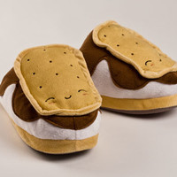 Heated USB S'mores Slippers | Food Slippers | BunnySlippers.com