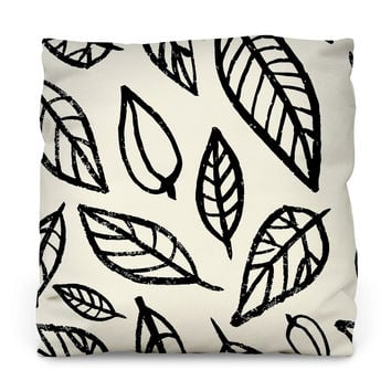 Linear Leaf Outdoor Throw Pillow