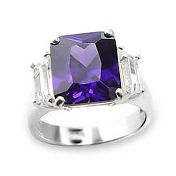 Sterling Silver Cubic Zirconia Ring 6X057 - 925 Sterling Silver Ring
