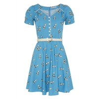 Trollied Dolly   Knees Up Teas Up Summer Cockatoo Print Dress   Spoiled Brat