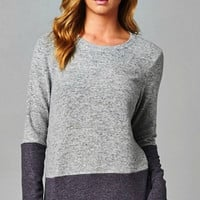 Two Toned Tunic - Black and Gray