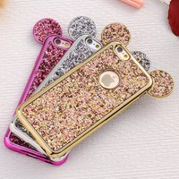 FLOVEME Case For iPhone 6 6S Plus For iPhone 7 8 Plus 5 5S SE Bling Glitter Cover Mouse Cases For iPhone 6 6S Plus iPhone X 10