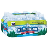 Ice Mountain Brand 100% Natural Spring Water - 12pk/8 fl oz Mini Bottles