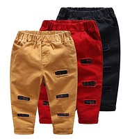 Baby Kids Children Boys Pants Plaid Patchwork Trousers Spring Summer Bottoms Child Boys Pants