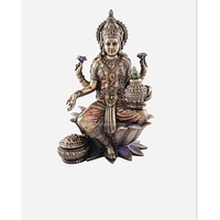 "7"" Seated Lakshmi - Hindu Goddess of Wealth, Prosperity, Wisdom and Fortune"