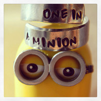 One in a minion despicable me inspired  aluminum ring