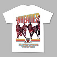 """""""91 Champs"""" Throwback Cereal Box Tee in White"""