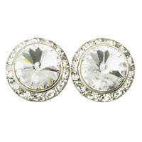 Child 15mm Crystal Post Earrings for Children