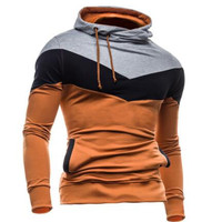 2016 Hoodies Men Sudaderas Hombre Hip Hop Mens Brand Tri-Color Stitching Hedging Hoodie Sweatshirt Sport Suit Slim Fit Men Hoody