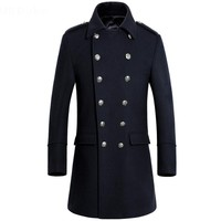 Winter New Long Men Overcoat Double Breasted Men Wool Coat