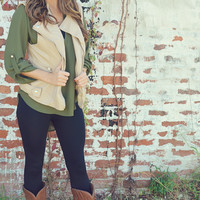 Everything's Better In Leather Vest: Tan | Hope's