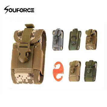 6 Color Tactical Phone Bag in Nylon Waist Bags 135x75x20mm Military Molle Hanging Sport Pouch Hunting Belt Bags