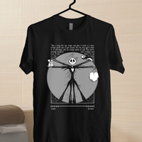 Nightmare Before Christmas Vitruvian size for men t-shirt size from S-5xl