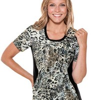Buy Flexibles Womens Jewel Neck On The Prowl Scrub Top for $20.45