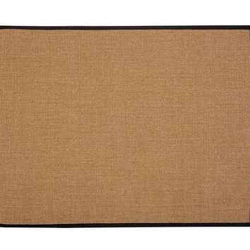 COLOR-BOUND EARTH SISAL RUG - BLACK