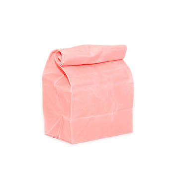 Lunch Bag in Coral // Waxed Canvas Lunch Bag // Lunch Bags // Back to School Lunch Bag