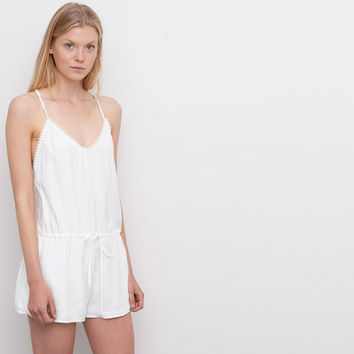 SHORT WHITE JUMPSUIT WITH CROCHET BACK - NEW PRODUCTS - NEW PRODUCTS - PULL&BEAR United Kingdom