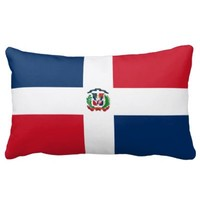 Dominican flag pillow