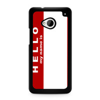 Hello My Name Is HTC One | M7 case