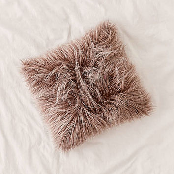Marisa Tipped Faux Fur Pillow | Urban Outfitters